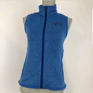 Patagonia Women's XS Blue Fleece Vest Jacket Full